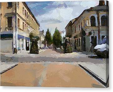 Daugavpils Street 2 Canvas Print by Yury Malkov