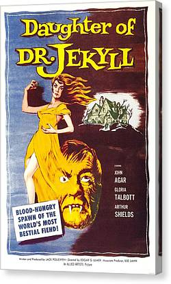 Daughter Of Dr. Jekyll, Us Poster Canvas Print by Everett