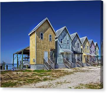 Dauphin Island Fishing Houses Canvas Print by Mountain Dreams