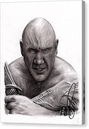 Dave Bautista Canvas Print by Rosalinda Markle