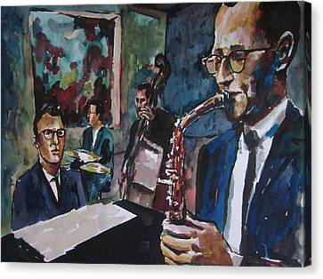 Dave Brubeck Quartet Canvas Print by Matthew OHanlon
