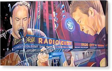 Dave Matthews And Tim Reynolds At Radio City Canvas Print by Joshua Morton