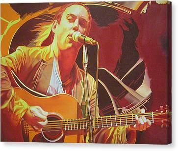 Dave Matthews At Vegoose Canvas Print by Joshua Morton