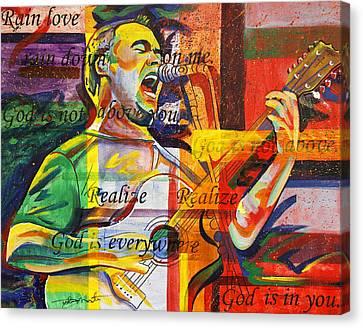 Dave Matthews-bartender Canvas Print by Joshua Morton