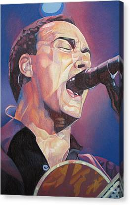 Dave Matthews Colorful Full Band Series Canvas Print by Joshua Morton