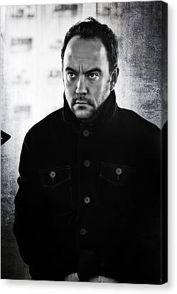 Dave Matthews In Black And White Canvas Print by Jennifer Rondinelli Reilly - Fine Art Photography