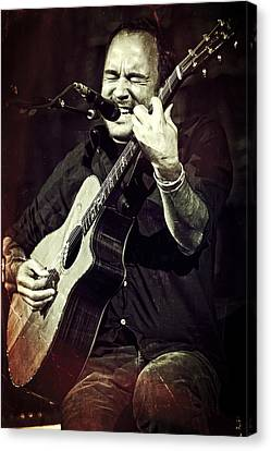 Dave Matthews On Acoustic Guitar 2 Canvas Print by Jennifer Rondinelli Reilly - Fine Art Photography