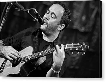 Dave Matthews On Guitar 2 Canvas Print by The  Vault - Jennifer Rondinelli Reilly