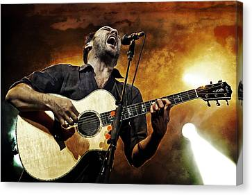 Dave Matthews Scream Canvas Print by The  Vault - Jennifer Rondinelli Reilly