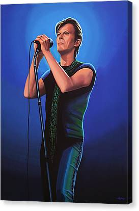 David Bowie 2 Painting Canvas Print by Paul Meijering