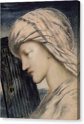 David Canvas Print by Simeon Solomon