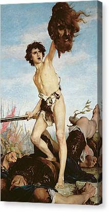 David Victorious Over Goliath Canvas Print by Gabriel Joseph Marie Augustin Ferrier