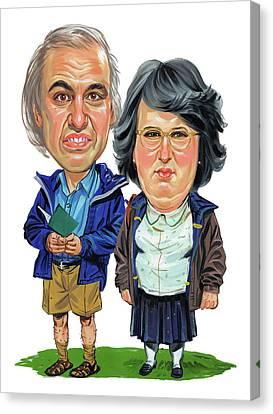 David Walliams And Matt Lucas As George And Sandra Canvas Print by Art