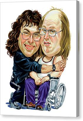David Walliams And Matt Lucas As Lou And Andy Canvas Print by Art