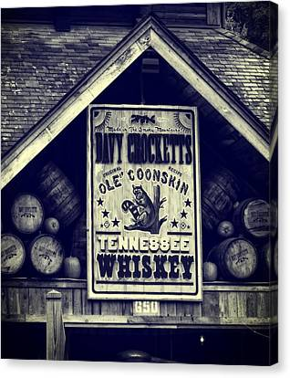 Davy Crocketts Tennessee Whiskey Canvas Print by Dan Sproul
