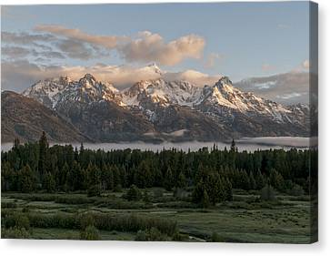 Dawn At Grand Teton National Park Canvas Print by Brian Harig