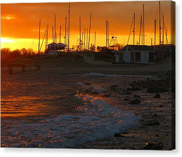 Dawn At Sesuit Harbor Canvas Print by Dianne Cowen