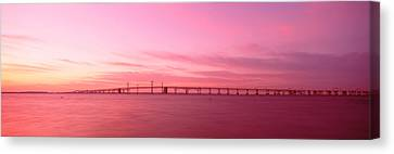 Dawn, Chesapeake Bay Bridge, Maryland Canvas Print by Panoramic Images