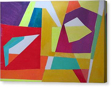 Abstract Angles Vii Canvas Print by Diane Fine