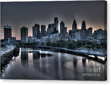 Dawn In Philly Canvas Print by Mark Ayzenberg