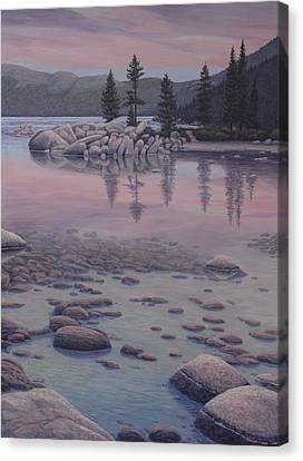 Dawn's Stillness Canvas Print by James English Babcock