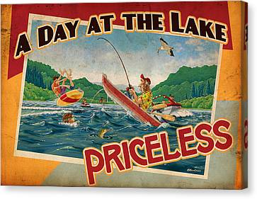 Day At The Lake Canvas Print by JQ Licensing