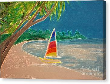 Day Sailer Canvas Print by First Star Art