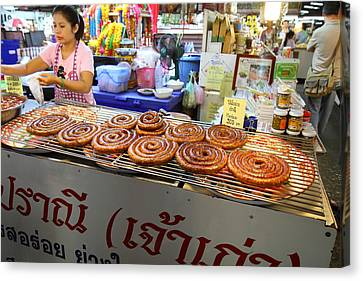 Day Street Market - Chiang Mai Thailand - 01135 Canvas Print by DC Photographer