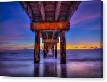 Daybreak At The Pier Canvas Print by Marvin Spates