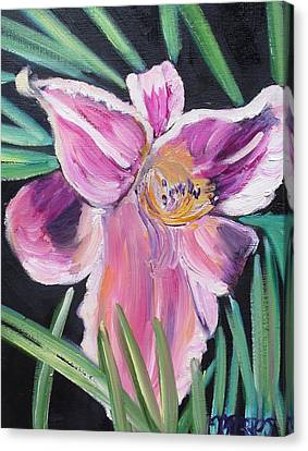 Daylily Canvas Print by Melissa Torres