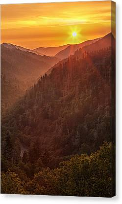 Day's Last Light Canvas Print by Andrew Soundarajan