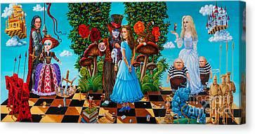 Daze Of Alice Canvas Print by Igor Postash