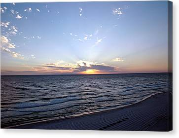 Dazzling Sunset Canvas Print by Roe Rader
