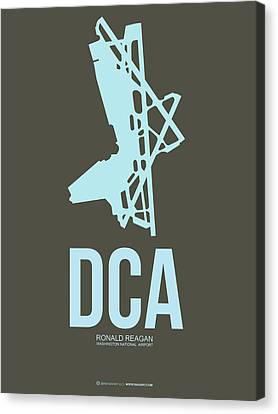 Dca Washington Airport Poster 1 Canvas Print by Naxart Studio