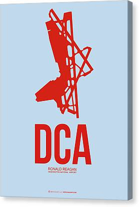 Dca Washington Airport Poster 2 Canvas Print by Naxart Studio