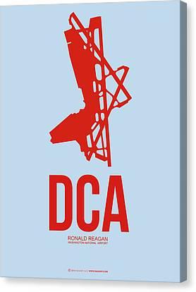 Dca Washington Airport Poster 2 Canvas Print by Naxart Studio