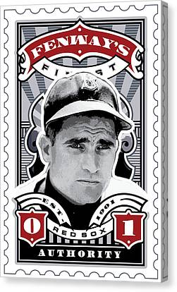 Dcla Bobby Doerr Fenway's Finest Stamp Art Canvas Print by David Cook Los Angeles