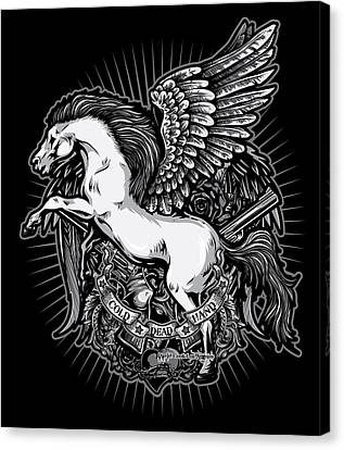 Dcla Cold Dead Hand Pegasus Canvas Print by David Cook Los Angeles