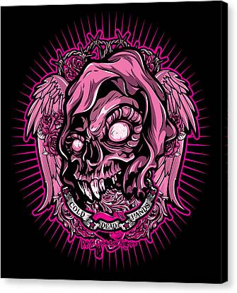 Dcla Cold Dead Hand Zombie Pink 3 Canvas Print by David Cook Los Angeles