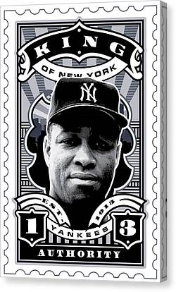 Dcla Elston Howard Kings Of New York Stamp Artwork Canvas Print by David Cook Los Angeles