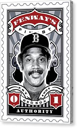 Dcla Jim Rice Fenway's Finest Stamp Art Canvas Print by David Cook Los Angeles