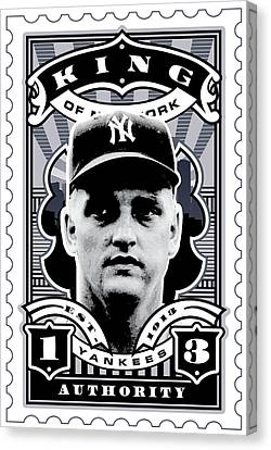 Dcla Roger Maris Kings Of New York Stamp Artwork Canvas Print by David Cook Los Angeles