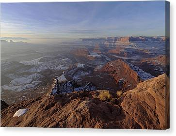 Colorado River Canvas Print featuring the photograph Deadhorse Point by Chad Dutson