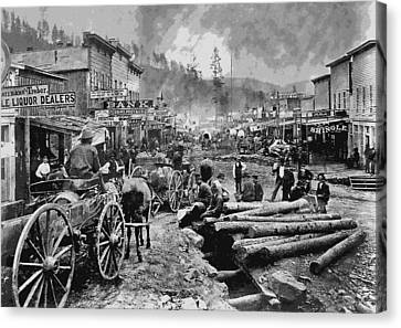 Deadwood South Dakota C. 1876 Canvas Print by Daniel Hagerman