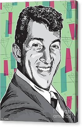Dean Martin Pop Art Canvas Print by Jim Zahniser