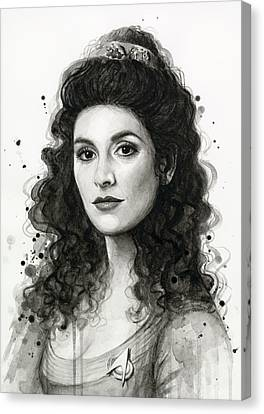 Deanna Troi - Star Trek Fan Art Canvas Print by Olga Shvartsur