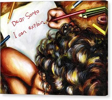 Dear Santa Canvas Print by Hiroko Sakai