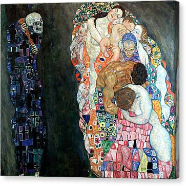 Death And Life Canvas Print by Gustive Klimt