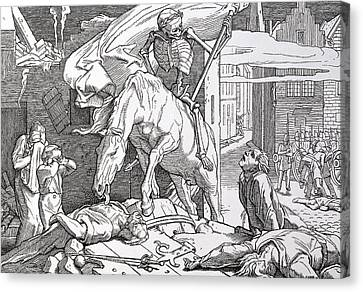 Death As Victor Canvas Print by Alfred Rethel