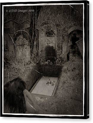 Death Becomes Her Canvas Print by Kristie  Bonnewell